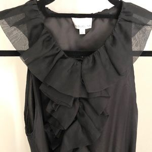 Black organza cocktail dress